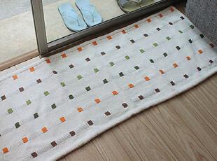 蒙氏地垫 全棉 手工地垫地毯床边毯厨房毯玄关毯 50*120,地毯,