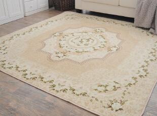 ROBO品牌地毯 欧式玫瑰盛宴印花客厅卧室地毯 可机洗 抗菌防静电,地毯,