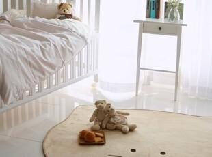 【Asa room】韩国进口代购地毯 可爱猫咪米色卧室脚地毯d110,地毯,