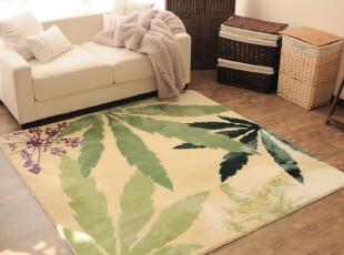 【7折特价】出口 日本地毯 客厅茶几地毯 卧室地垫 曼珠沙华花叶,地毯,