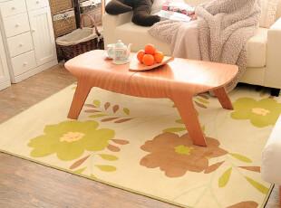 高档印花工艺 田园风格 五叶花型客厅书房地毯 最新机洗环保材质,地毯,