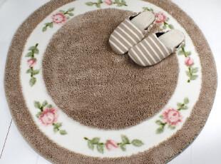 小艾 圆形地垫 超细纤维地垫 门垫 电脑椅地垫 卧室客厅地垫 90cm,地毯,