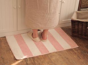【已质检】超纤韩式条纹地毯 抗菌防霉 吸水卫浴防滑地垫 3色选,地毯,