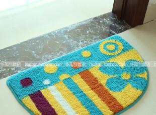特价新款多彩蓝色条纹大达正品半圆地毯 门垫 地垫 浴室垫 防滑垫,地毯,