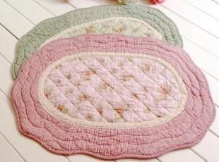 多款!田园纯棉布艺绗缝地垫 韩式门垫 床前垫 飘窗垫 脚垫 物品垫,地毯,
