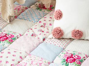 韩国家居代购 田园拼色沙发垫 防滑地垫 地毯 飘窗垫 可定做,地毯,