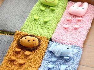 特 日单 可爱动物园 浴室吸水防滑垫 卧室地毯 雪尼尔地垫0.2kg,地毯,