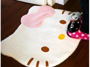 [特]默默爱♥外贸原单KITTY小地毯地垫 可爱卧室地毯客厅地毯,地毯,