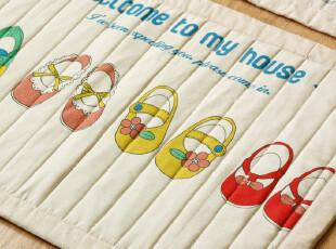 老屋韩式家居布艺棉麻手工可爱创意彩色卡通环保地垫门厅垫门口垫,地毯,