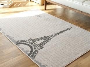 【Asa room】韩国进口代购地毯 时尚埃菲尔铁塔爬行垫床单 dc185,地毯,