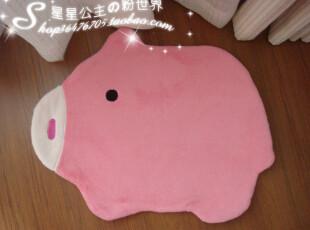 给宝宝们^日单可爱生动动物图案门垫^地垫^我是粉粉猪,地毯,