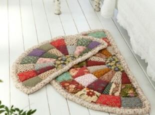 韩国进口代购 花艺设计碎花拼接多功能地垫40×80,地毯,
