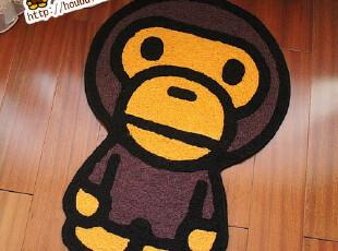 日本bape安逸猴猿人头babymilo家居客厅地垫 飘窗垫 地毯 沙发垫,地毯,