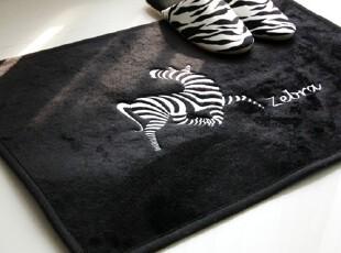 【Asa room】韩国进口代购地毯 斑马长方形客厅黑色地毯d100,地毯,