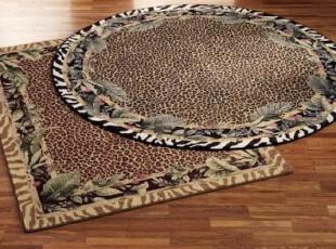 【纽约下城公园】 动物毛皮图案羊毛地毯 现货,地毯,