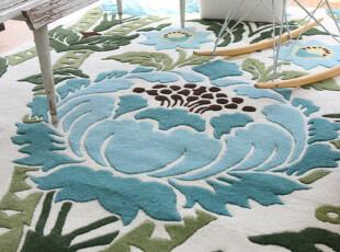 【纽约下城公园】考文垂花朵新西兰羊毛地毯 (2x3,5x7.6),地毯,