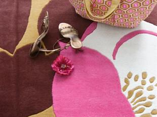 【纽约下城公园】罂粟花园新西兰羊毛地毯(2x3,5x7.6),地毯,