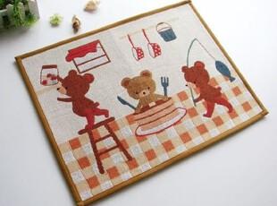 【Asa room】韩国进口代购地毯 三只小熊卡通脚地毯d107,地毯,