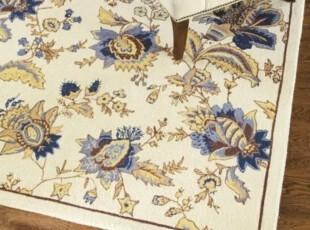 【纽约下城公园】索菲亚花朵羊毛地毯(多种规格可供选择),地毯,