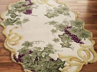 【纽约下城公园】 金色彩带葡萄纯羊毛小地毯,地毯,