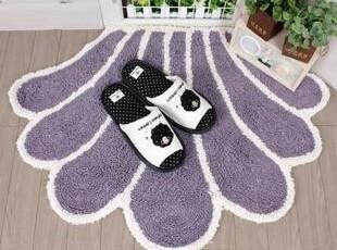 ★公主梦想★韩国家居*紫色贝壳*扇形装饰地垫M1800,地毯,