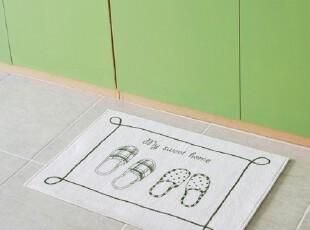 【Asa room】韩国进口地毯 可爱卡通拖鞋卧室客厅短绒地毯 d073,地毯,