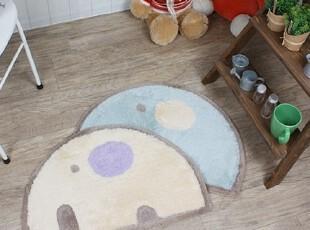【Asa room】韩国进口代购地毯 可爱小象半椭圆卧室地毯d094,地毯,