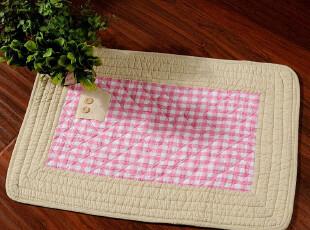 JF2529 出口日本绗缝地垫 原单尾货 小方格 50*70,地毯,
