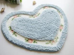 【Asa room】韩国进口代购地毯 桃心蓝色卧室脚地毯d104-b,地毯,