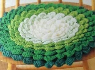 【五折大促】纯手工毛线钩织地垫(坐莲)多种颜色可选可定制,地毯,