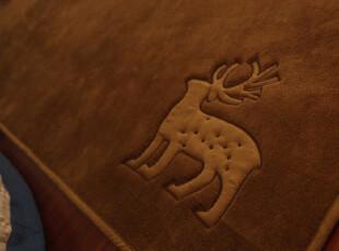 Castle Garden亲肤纯棉天鹅绒麋鹿地垫地毯爬行垫 咖绿 150*190,地毯,