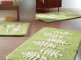 欧洲时尚卫浴spirella田园风干脚地垫美国花园绿色 垫子 包邮,地毯,