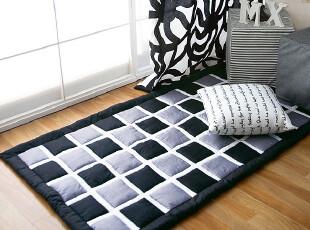 定做!韩国家居代购格子男孩地垫 飘窗垫 门垫 爬行垫,地毯,