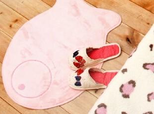 【Asa room】韩国进口代购 儿童卡通脚地毯粉色小鱼短绒 d067-p,地毯,