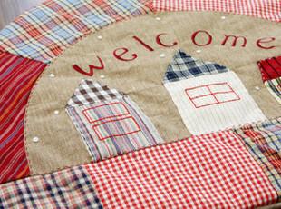 ★公主梦想★韩国家居*WELCOME-半圆形手工拼接玄关装饰地垫W227,地毯,
