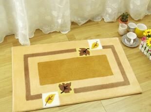可佳 手工织花地垫门口垫 宾馆地毯卧室可爱床边踩脚垫50*80cm,地毯,