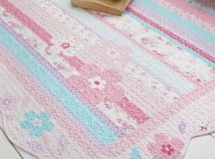 韩国直送0波浪花边纯棉田园风格大地毯地垫,地毯,