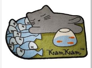 可爱kamkam猫猫dondon狗狗创意地毯地垫门垫客厅门厅 香港正品,地毯,