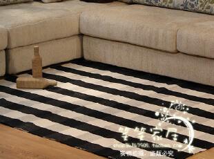 梦幻之黑白格 手编纯棉地毯|地垫|茶几垫| 飘窗垫|床前毯 多尺寸,地毯,