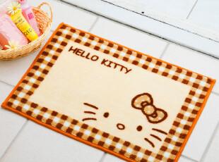 【预订】日本正品代购HELLO KITTY可爱格子卧室浴室防滑地垫A A,地毯,
