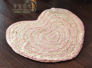 日式可爱心形~ 粉嫩纯棉地垫|门厅垫 底部带防滑粒  4色,地毯,