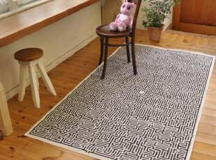 60年代/70年代復古懷舊迷宮麻掛毯 / 地毯,地毯,