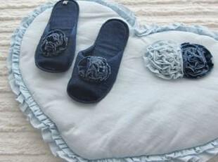 韩国进口 代购优雅心形夹棉地垫脚垫 多款可选,地毯,