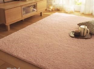 质检日式 不掉色柔软绒丝卧室睡毯床前垫飘窗防滑地毯地垫70*140,地毯,