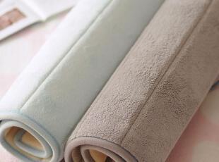外单 好品质纯色珊瑚绒面地垫 门垫 3色选,地毯,