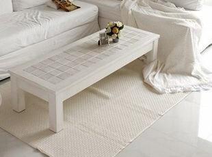 韩国官网代购 素净大方客厅棉地垫/客厅 卧室防滑地垫 象牙白,地毯,