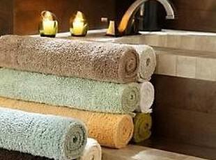 简单的奢华 美国代购包邮 上等竹纤维制造双面绒毛素色浴垫地垫,地毯,