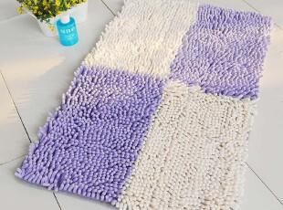 富居地毯 雪尼尔色块拼接地毯 防滑脚垫 门厅卫浴卧室防滑脚垫,地毯,