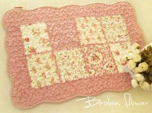 美丽说推荐日式田园绗缝地垫=门垫床前垫飘窗垫地毯方块粉色40*60,地毯,