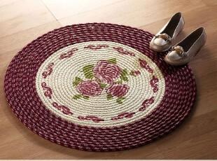 欧洲尾单  椅垫/ 厨房垫/宠物垫/地垫/地毯 直径76圆形,地毯,